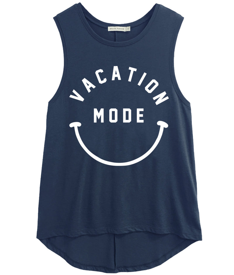 Whitney - Muscle Tee - Vacation Mode - Navy