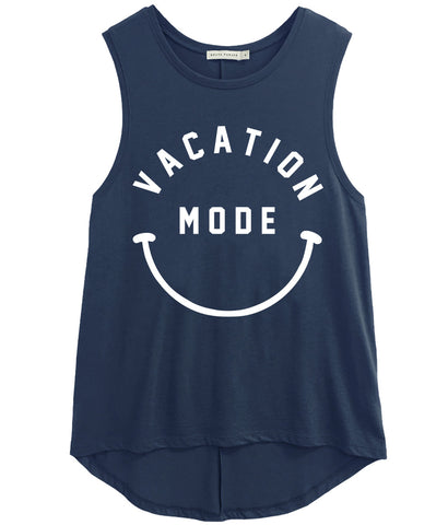 Whitney - Muscle Tee - Vacation Mode