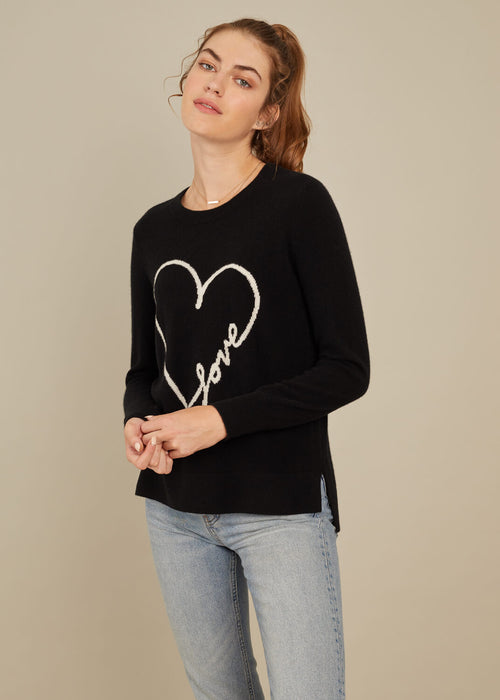 Sophie - Sweater - Love - Black
