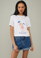 Lola - Loose Tee - Sex On The Beach - White