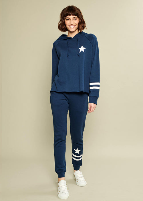 Lucy - Sweatpant - Star & Stripes - Navy Blue
