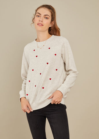 Rocky - Sweatshirt - Mini Hearts - Gray