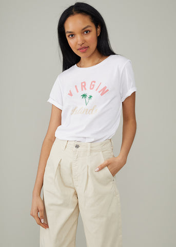 Lola - Loose Tee - Virgin Islands - White