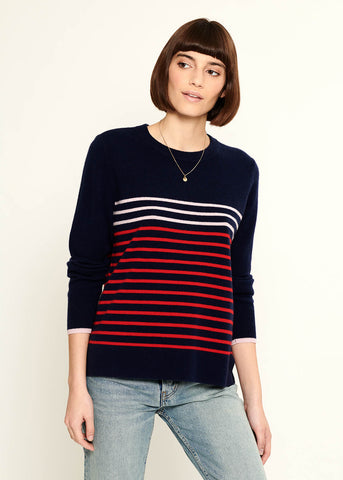 Sophie - Sweater - Stripes - Navy Blue
