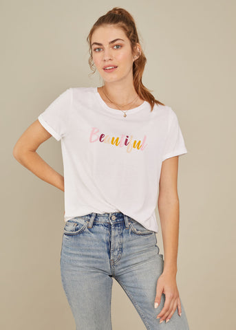 Lola - Loose Tee - Beautiful - White