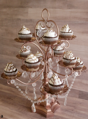 Rose Gold Cupcake Tree
