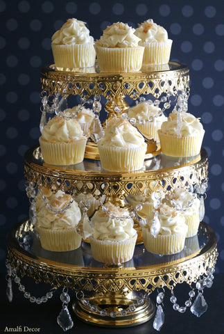 3-tier gold cake stand