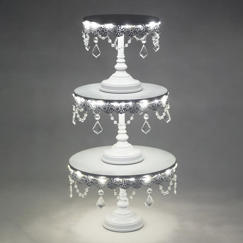 3 Piece LED Cake Stand Set