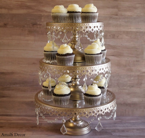 glass top cake stand - Amalfi Decor