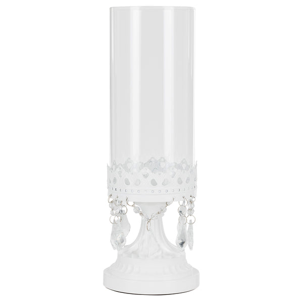 Victoria White Hurricane Candle Holder by Amalfi Decor