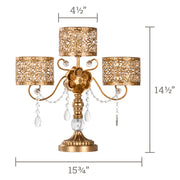 Antique Gold 3 Pillar Candle Holder Centerpiece by Amalfi Decor