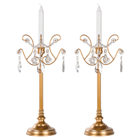 1 Light Gold Candlestick Holder Votive Accent Set by Amalfi Decor