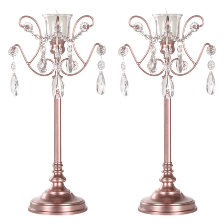 1 Light Rose Gold Candlestick Holder Votive Accent Set by Amalfi Decor