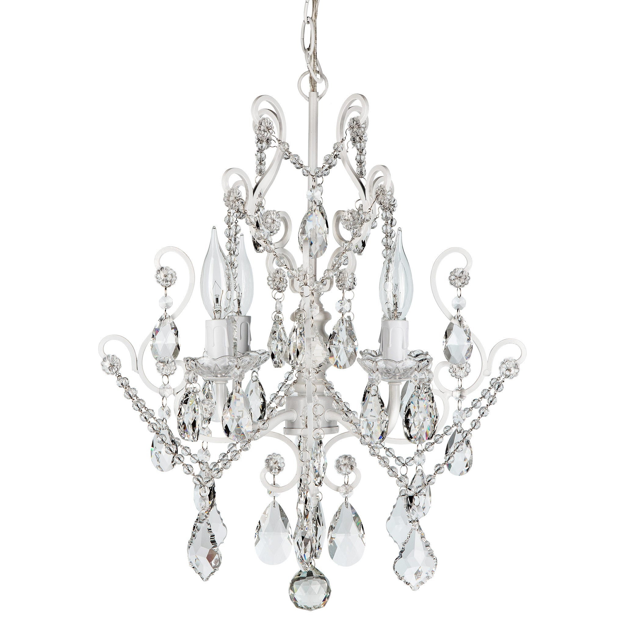 Crystal chandeliers amalfi dcor amalfi decor amalfi decor theresa 4 light white crystal pendant chandelier arubaitofo Gallery