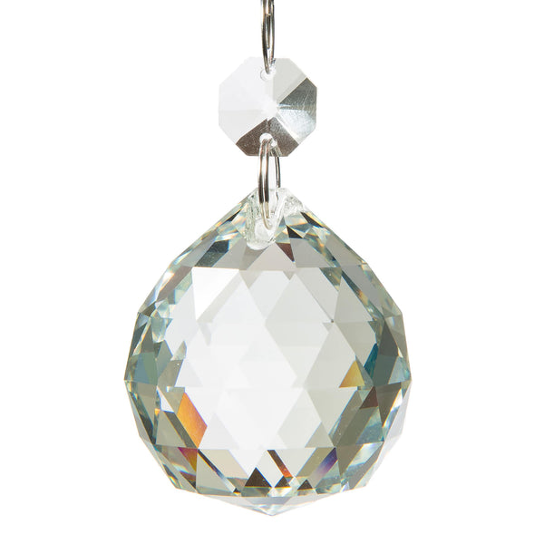 4 Light Vintage Crystal Plug-In Chandelier (White)