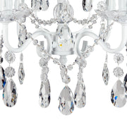 Amalfi Decor Madeleine 4-Light White Crystal Pendant Plug-In Chandelier Lighting