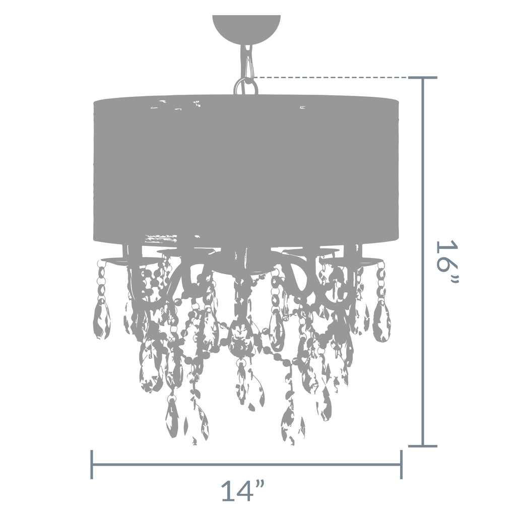 5 light black crystal plug in chandelier with shade amalfi decor 5 light crystal plug in chandelier with cylinder shade black aloadofball Images