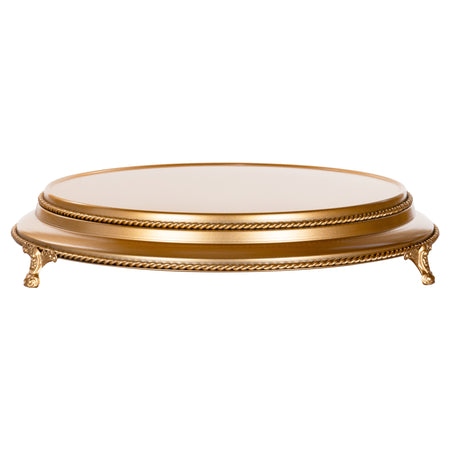 Amalfi Decor 16-inch round plateau metal wedding cake stand, gold finish