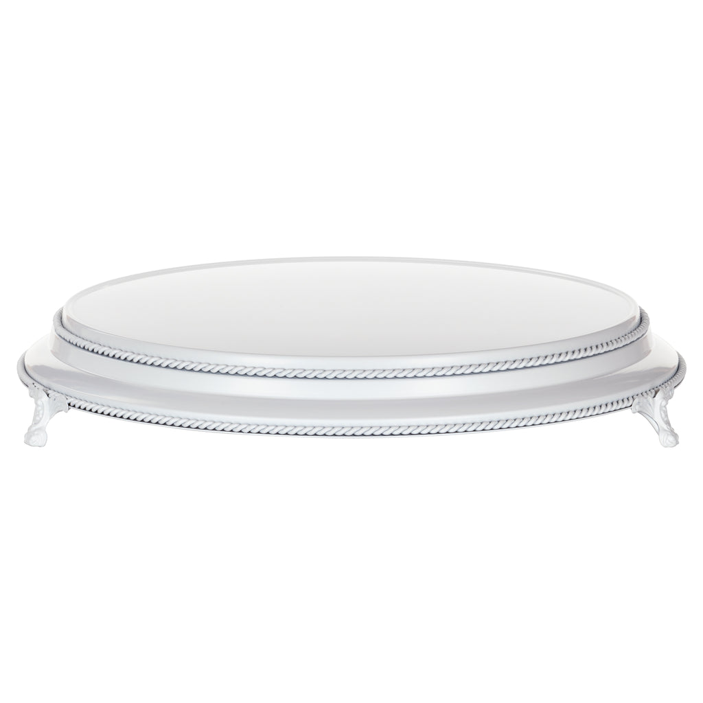 Amalfi Decor White 16 Inch Round Wedding Cake Stand Plateau