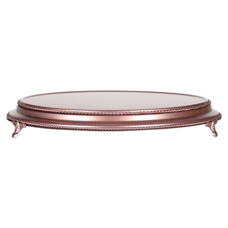 Amalfi Decor 18-inch round plateau metal wedding cake stand, rose gold finish