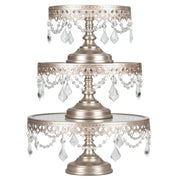 Victoria 3-Piece Champagne Glass Top Cake Stand Set by Amalfi Decor