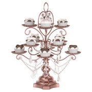 Madeleine Rose Gold 12 Piece Dessert Cupcake Stand by Amalfi Decor