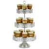 3-Tier Shiny Metallic Silver Plated Reversible Dessert Cupcake Stand | Amalfi Decor
