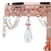 10 Inch Shiny Metallic Rose Gold Plated Mirror-Top Cake Stand | Amalfi Decor
