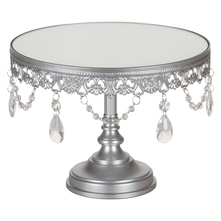 10 Quot Antique Silver Mirror Cake Stand Amalfi Decor
