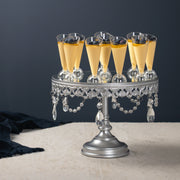 Anastasia 10 Inch Silver Mirror Top Cake Stand by Amalfi Decor