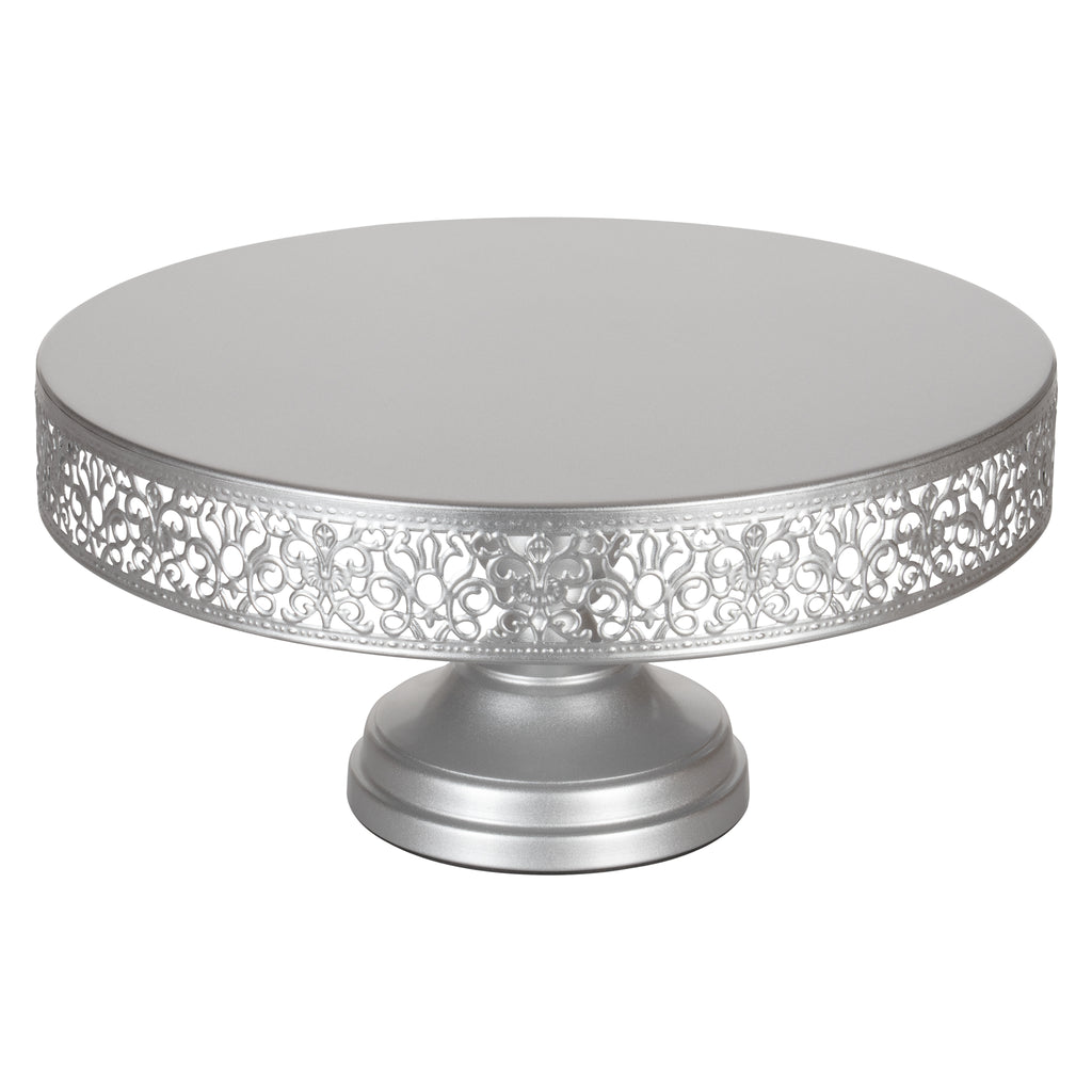 ... Victoria 14 Inch Antique Silver Round Metal Wedding Cake Stand By  Amalfi Decor ...