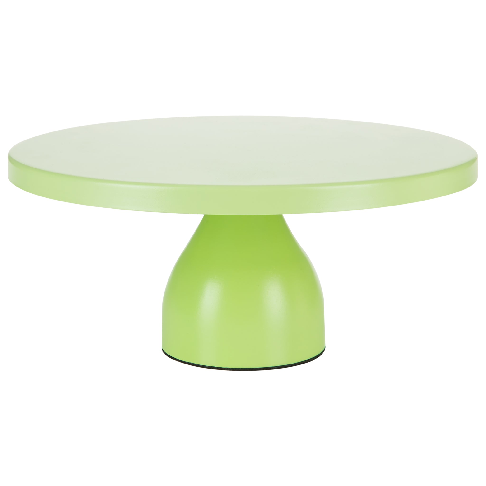 Amalfi Decor 12 Inch Round Modern Metal Wedding Cake Stand (Lime Green) | Stainless Steel Frame
