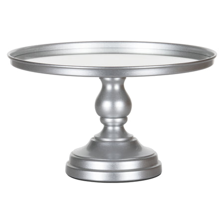 12 Inch Mirror-Top Cake Stand (Silver) by Amalfi Decor