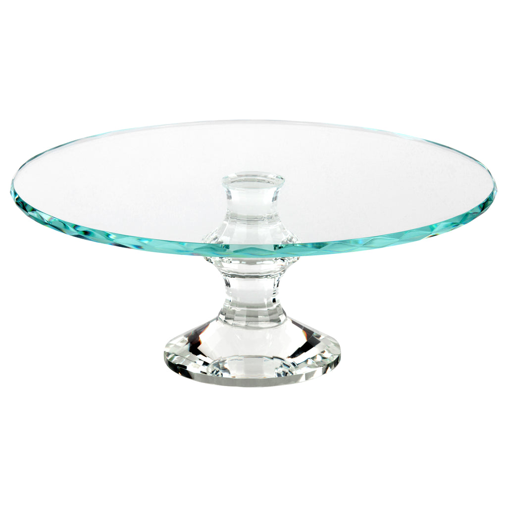 12 Inch Solid Crystal Cake Stand