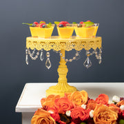 3-Piece Crystal Cake Stand Set (Yellow)