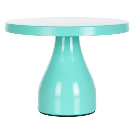 Amalfi Decor Teal 8 Inch Round Modern Metal Cake Stand