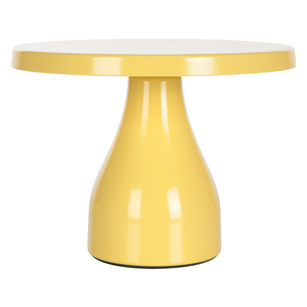 Amalfi Decor Yellow 8 Inch Round Modern Metal Cake Stand