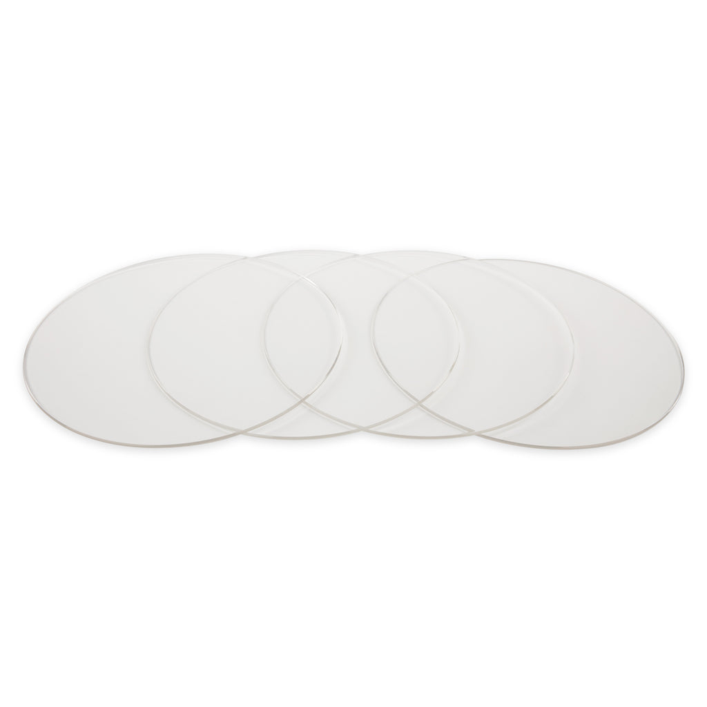 8 Inch Round Acrylic Cake Board Set of 4 (Clear)
