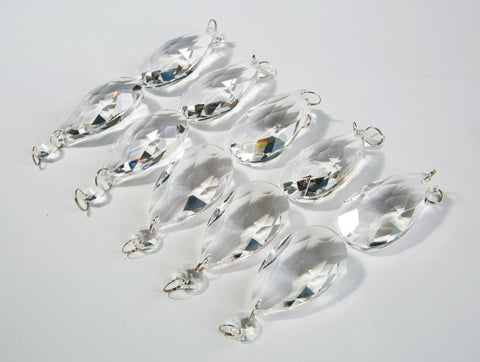 Authentic Glass Chandelier Crystals | 2 inch (50mm) Teardrop | Set of 10