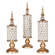 Amalfi Decor Gold 3 Piece Metal Candy Jar Set