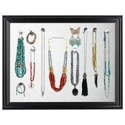 Shabby Chic Magnetic Jewelry Display Organizer Board (Black)