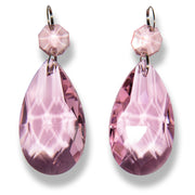 Amalfi Decor K9 Quality Chandelier Glass Crystal Teardrop Pendants (Pink)