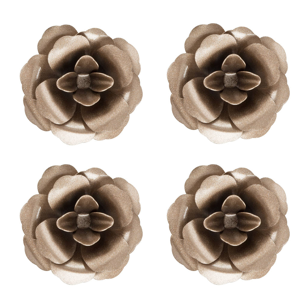 Rosette Magnet Set of 4 | Champagne