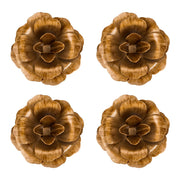 Rosette Magnet Set of 4 | Gold