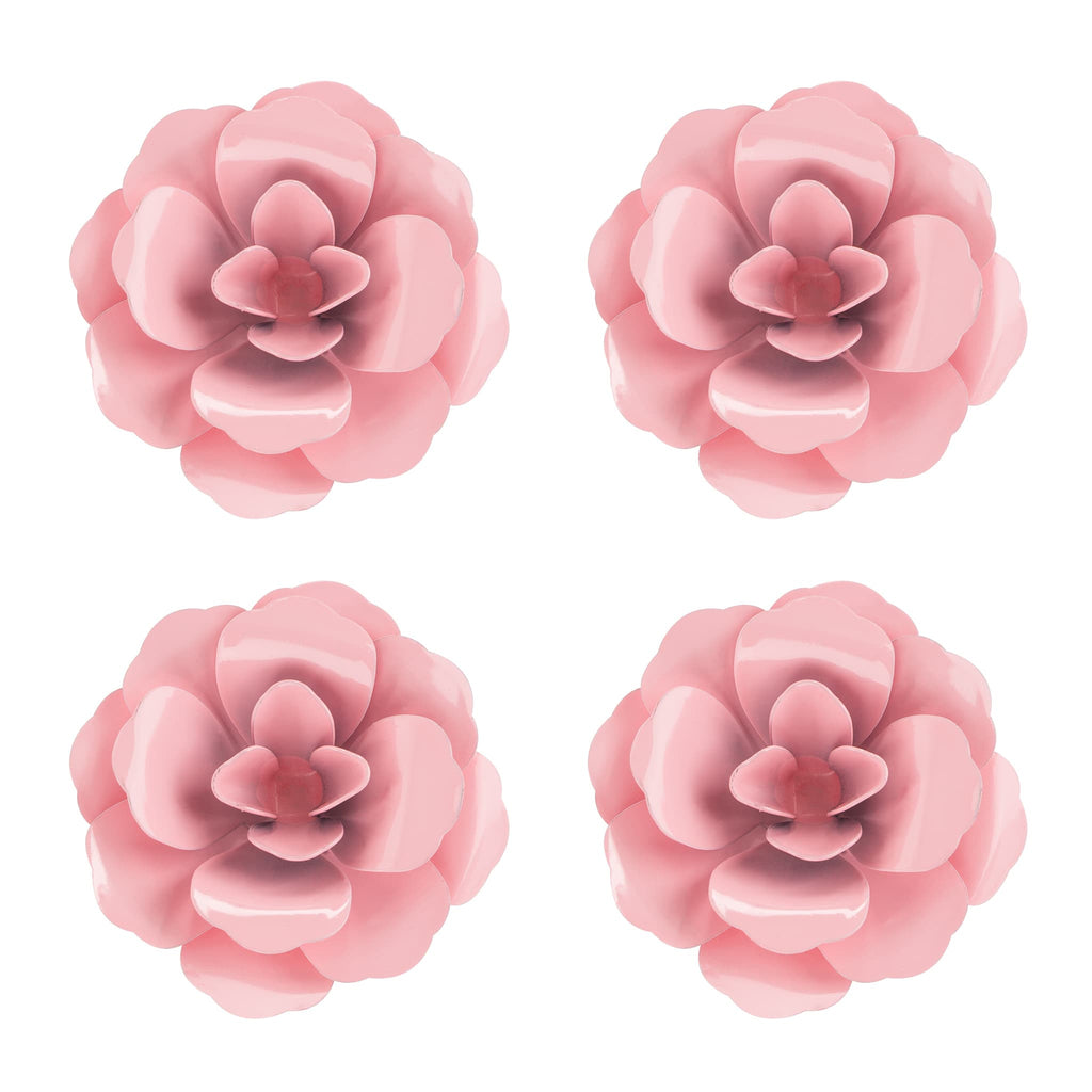 Rosette Magnet Set of 4 | Pink