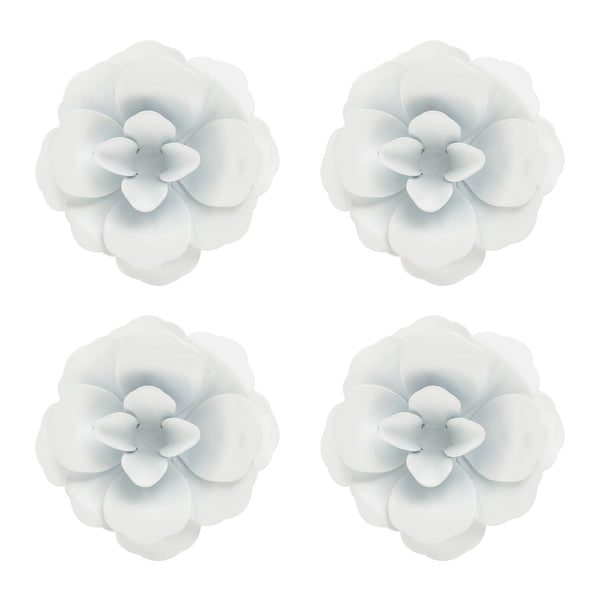Rosette Magnet Set of 4 | White