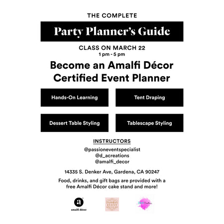 Class: The Complete Party Planner's Guide
