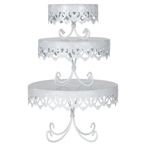 3-Piece Royal Crown Cake Stand Set (White)