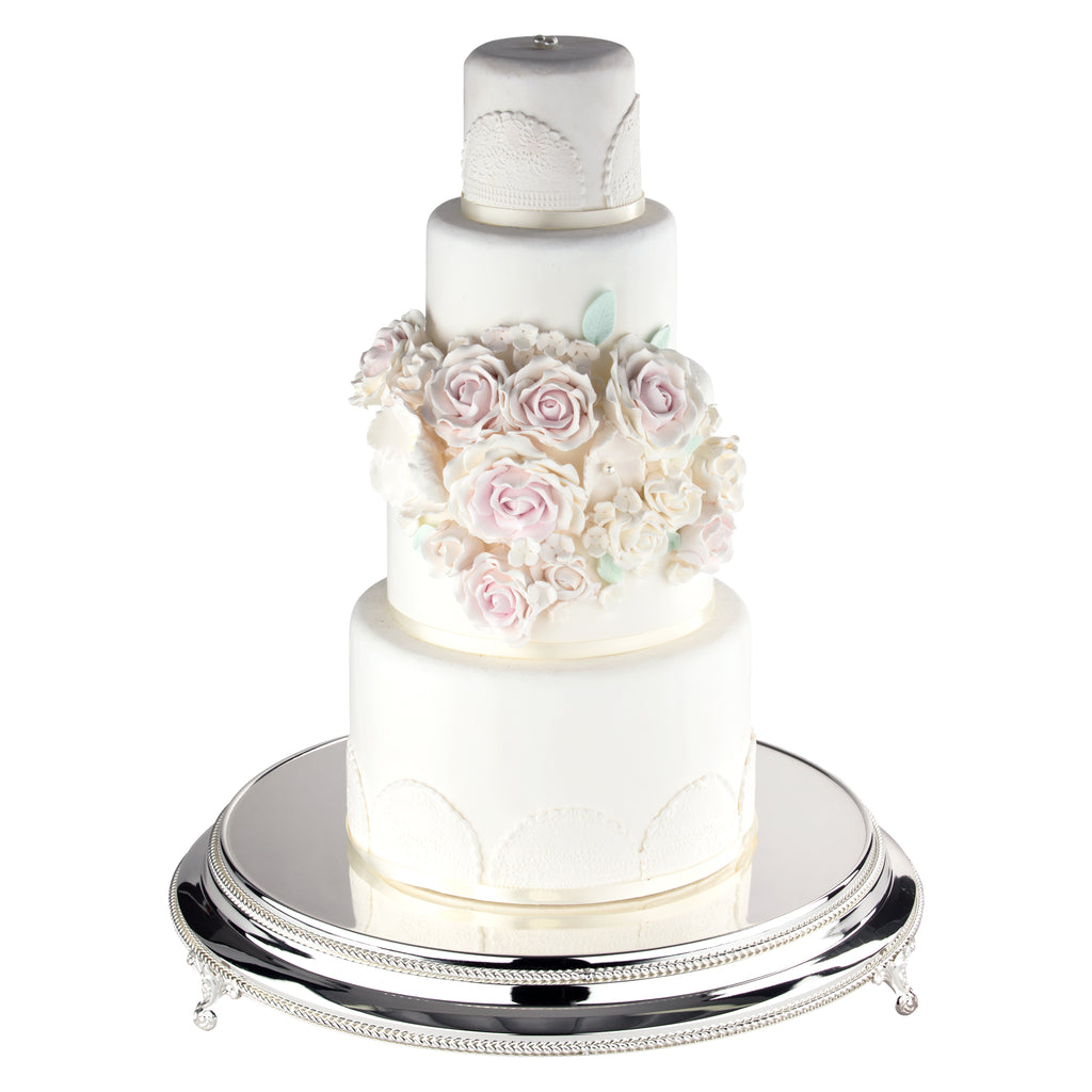 18 round gold wedding cake stand 18 inch shiny wedding cake stand plateau silver 10077