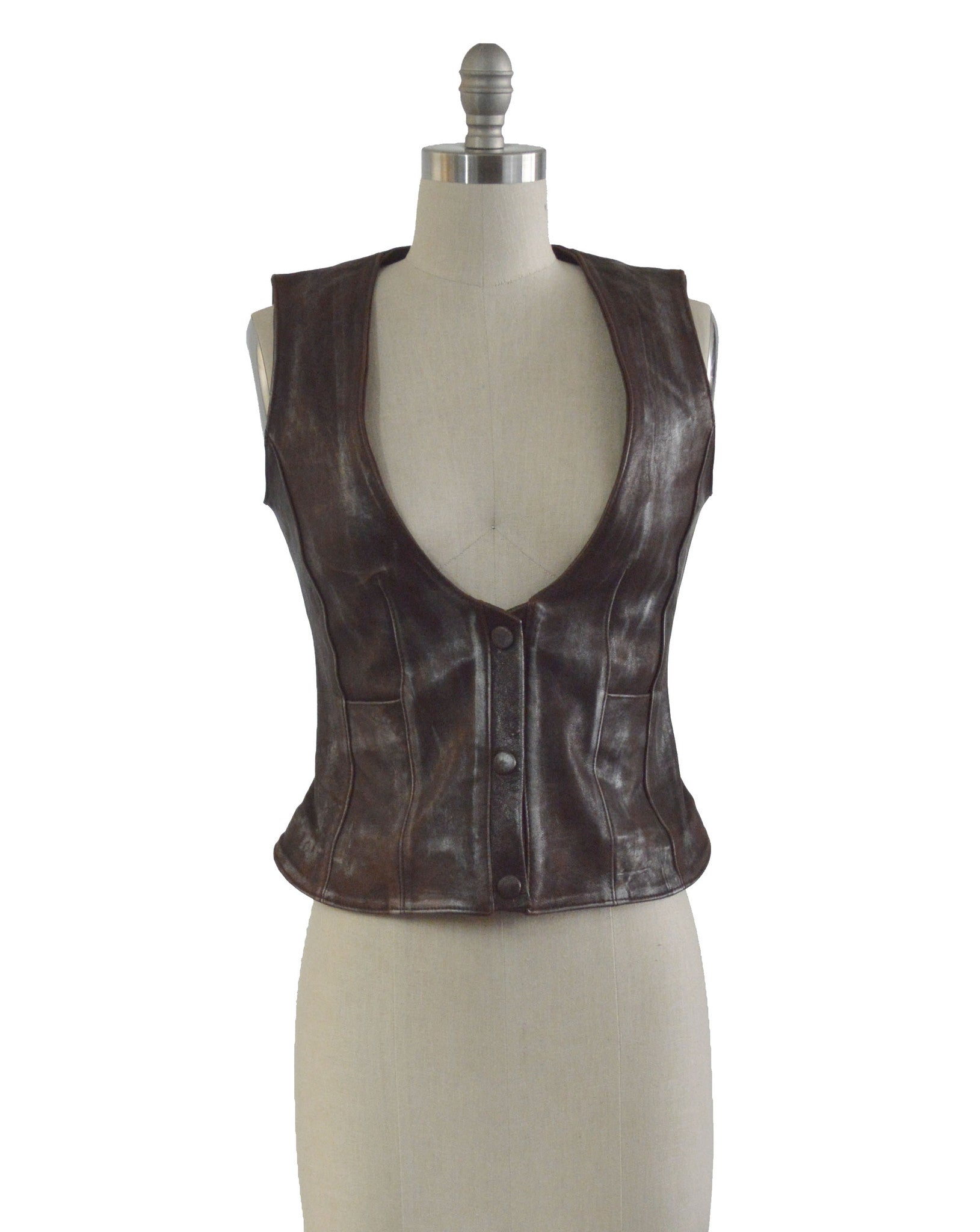 The Distressed Lambskin Vest